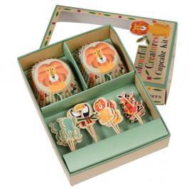 Sada na zdobenie cupcakov Rex London Colourful Creatures