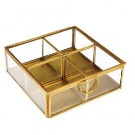 Zlatý box so 4 priehradkami Rex London Flavio