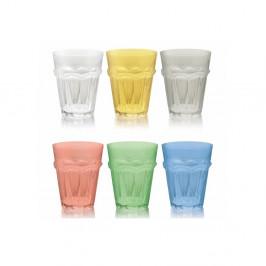 Sada 6 farebných pohárov Villa d'Este Bicchieri Floyd