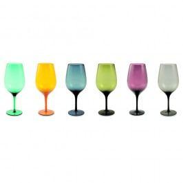 Sada 6 farebných pohárov na víno Villa d'Este Happy Hour