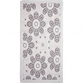 Sivobéžový bavlnený koberec Vitaus Papatya, 80×200 cm