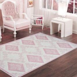 Púdrovoružový odolný koberec Vitaus Azalea, 60x90cm