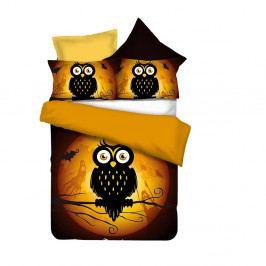 Obojstranné obliečky z mikrovlákna DecoKing Owls Ghoststory, 135x200cm