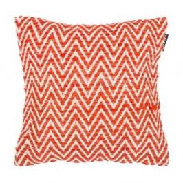 Oranžová vzorovaná obliečka na vankúš Tiseco Home Studio Ziggy, 45 x 45 cm
