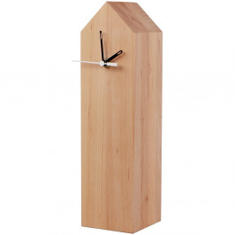 Stolové hodiny z jelšového dreva Nørdifra Blocks House