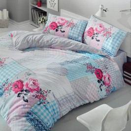 Bavlnené obliečky s plachtou Rita Pink, 200 x 220 cm