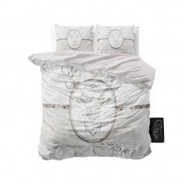 Svetlosivé obliečky z mikroperkálu Sleeptime My Deer Love, 200 x 220 cm