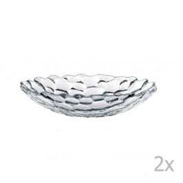Sada 2 polievkových tanierov z krištáľového skla Nachtmann Sphere, ⌀25 cm