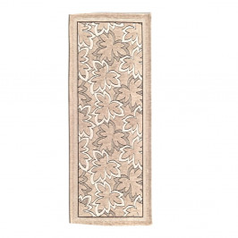 Béžový vysokoodolný kuchynský koberec Webtapetti Maple Tortora, 55×190cm