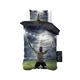 Obliečky z mikroperkálu Sleeptime Football Champion, 140 x 220 cm