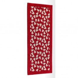 Červený vysokoodolný kuchynský behúň Webtappeti Corazon Rosso, 55×140cm