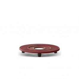 Červená liatinová podložka pod kanvičku Bredemeijer Xilin, ⌀ 13,4 cm