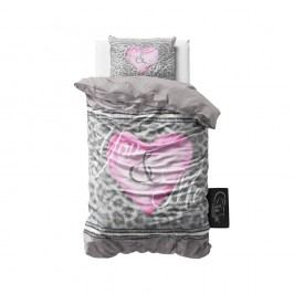 Obliečky z mikroperkálu Sleeptime You and Me, 140 x 220 cm