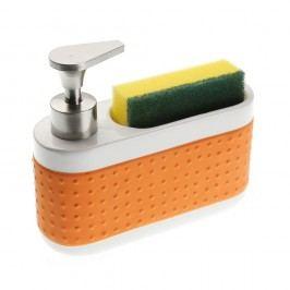 Stojan na špongiu a umývací prostriedok Orange Scourer