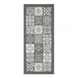 Sivý vysokoodolný kuchynský behúň Webtappeti Maiolica Grigio, 55 x 140 cm