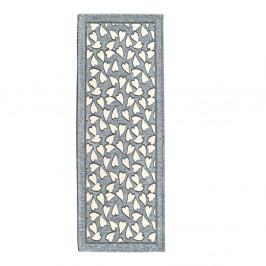 Sivý vysokoodolný kuchynský koberec Webtappeti Corazon, 55 x 190 cm