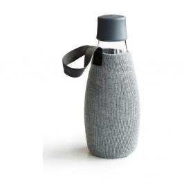 Sivý obal na sklenenú fľašu ReTap s doživotnou zárukou, 500ml