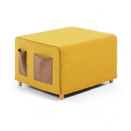 Žltá rozkladacia posteľ La Forma Kos, 70 × 180cm