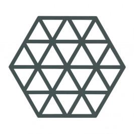 Sivozelená silikónová podložka pod horúce nádoby Zone Triangles