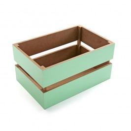 Zelený úložný box Versa, 30 cm