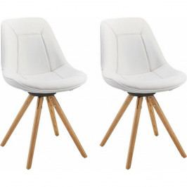 Sada 2 bielych jedálenských  stoličiek Støraa Mel