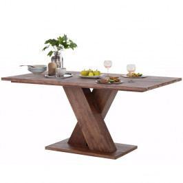 Tmavohnedý jedálenský stôl z masívneho akáciového dreva Støraa Cong, 1x2 m