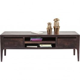 Nízka komoda/TV stolík z dreva sheesham vo farbe orecha Kare Design Brooklyn