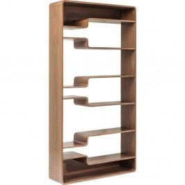 Hnedá drevená polica Kare Design Soft Walnut, 110 × 219 cm