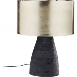 Čierna stolová lampa s tienidlom v zlatej farbe Kare Design Daylight