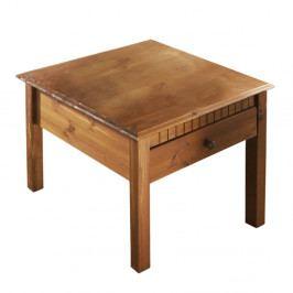 Hnedý konferenčný stolík z masívneho borovicového dreva Støraa Linda