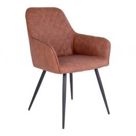 Sada 2 hnedých jedálenských stoličiek House Nordic Harbo
