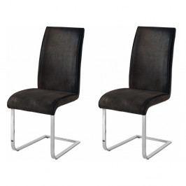 Sada 2 tmavosivých stoličiek Støraa Manto