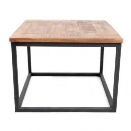 Čierny konferenčný stolík s doskou z mangového dreva LABEL51 Box