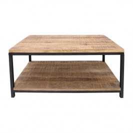 Čierny konferenčný stolík s doskou z mangového dreva LABEL51 Vintage XL