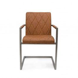 Hnedá jedálenská stolička s opierkami LABEL51 Oslo
