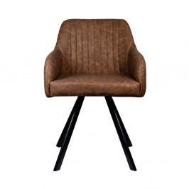 Tmavohnedá jedálenská stolička LABEL51 Floor