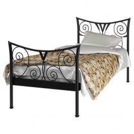 Čierna kovová posteľ Støraa Elizabeth, 90 x 200 cm