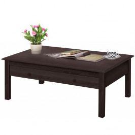 Tmavohnedý konferenčný stolík z borovicového dreva Støraa Lando Harry
