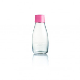 Svetloružová sklenená fľaša ReTap s doživotnou zárukou, 300ml