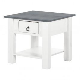 Biely konferenčný stolík z borovicového dreva sa sivou doskou Støraa Klein