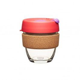 Cestovný hrnček s viečkom KeepCup Brew Cork Edition Sumac, 227ml