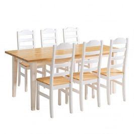 Jedálenský stôl z borovicového dreva Askala Scala
