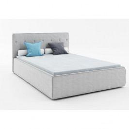 Svetlosivá dvojlôžková posteľ Absynth Mio Premium, 140×200cm