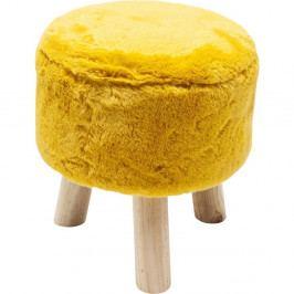 Žltá stolička Kare Design Sun