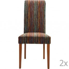 Sada 4 hnedých jedálnych stoličiek Kare Design Art House