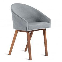 Sivá stolička Charlie Pommier U
