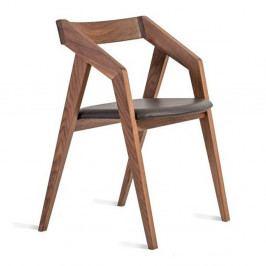 Stolička z masívneho orechového dreva Charlie Pommier Visionnaire