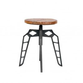 Sivá stolička so sedákom z mangového dreva LABEL51 Pebble