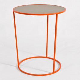 Oranžovo-sivý odkladací stolík MEME Design Constance