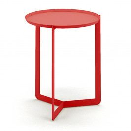 Červený príručný stolík MEME Design Round, Ø40cm